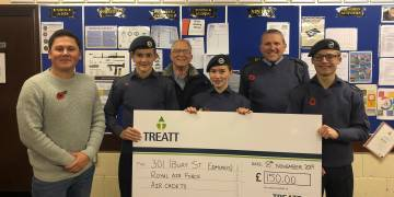 Donation to Bury St Edmunds Air Cadets