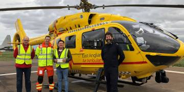 Donation to East Anglia Air Ambulance