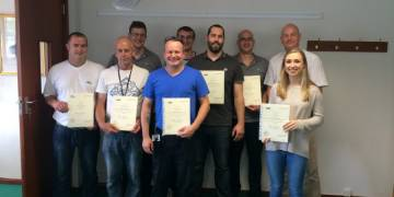 Treatt workers celebrate Level 2 NVQ success
